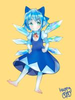 Happy Cirno Day by milkybee