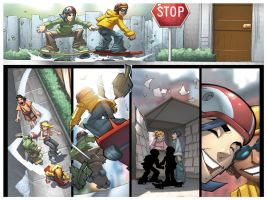 Skateboarding Pages 3 - 4 by Sandoval-Art