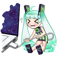 USB girl - LINE sticker! by Minakichan