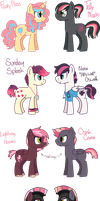 [OPEN] - Pink-Haired Pony Auctions by Featheries