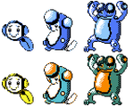Tympole Palpitoad Seismitoad GSC Sprites by Axel-Comics