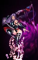 Psylocke Nightcrawler Colored by ejimenez