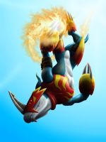 Flamedramon from the Sun by RyutehRyu
