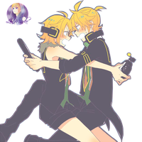 Kagamine Len and Rin render by LenMisoko 3 by LenMisoko