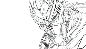 Garrus Vakarian Outline Free download by KatrineTindlund