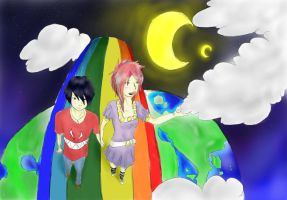 Walking on rainbows by rainhorse