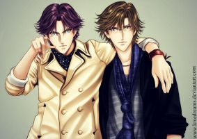 Atobe X Tezuka  as Actors version by lovedreams