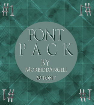 Font Pack #1 by MorbiddAngell