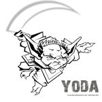 yoda all cartoony by crimsonspecter