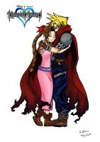 Cloud and Aerith by Shurikmurik