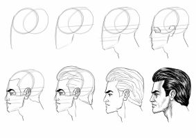 Head Tutorial side view by MasterSS