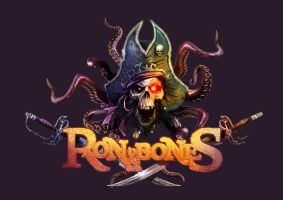 Logotipo descartado Ron y Bones by TheMonkey-DavidLanza
