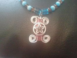 Handcrafted Gemini necklace by WyckedDreamsDesigns