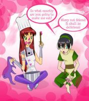 Starfire and toph time by teentitans