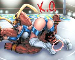 R Mika KO Zangief colored by vic55b