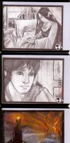 Sketchcards - LotR RotK by JeremyTreece