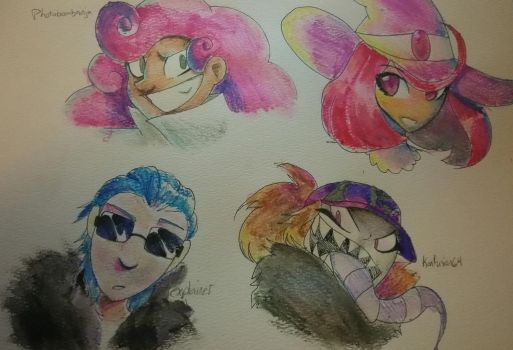 Watercolor stuff by kolthedestroyer