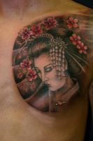 geisha by alphatattoo