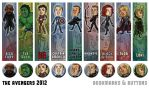 Avengers Bookmarks and Buttons by Kiriska