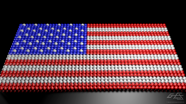 Orbs Unite - USA FLAG by gfx-micdi-designs