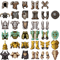 Skyrim Armour pixel art by TdeLeeuw