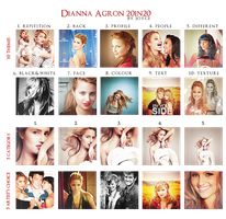 Dianna Agron 20in20 by memorabledesign