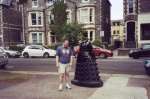 Me with a Dalek in Cardiff by MightyMorphinPower4
