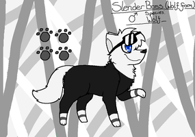 Slenderboss Reference (Wolf form) by kittyproc