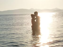 Couple and sunset 01 by pomeranc-stock