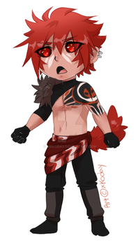 Red Chibi [CASH ADOPT-CLOSED] by xKoday