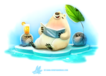 Daily Paint 1288. Solar Bear by Cryptid-Creations