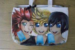 Hand painted KH bag by alexis360100