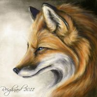 Blue Eyed Fox by Reighnard