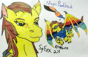 Magic Paintbrush, Hand-Drawn by SpellboundFox