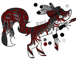 Grey and Red Tribal by extraterrestriial