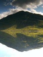 mountain reflection loch shiel by Rusticway
