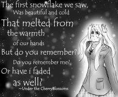 The first Snowfall by Anliease