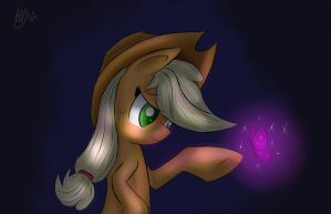 Applejack and Purple Butterfly by SupLoLNope