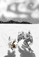 Running in the Snow (Fanlove for Ginga-Adoptables) by DogloverSasha