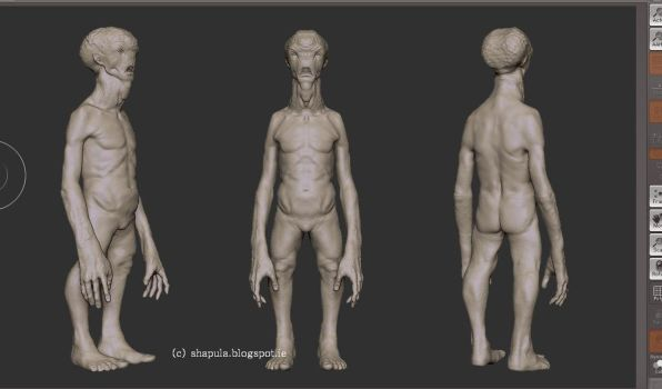 Alien Zbrush W.I.P by Shapula
