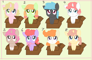 Cheap Baby Box Pony Adoptions OPEN CHEAP! by MockingJabberjay