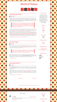 Blogspot template World of Pattern by MySensitiveHeart