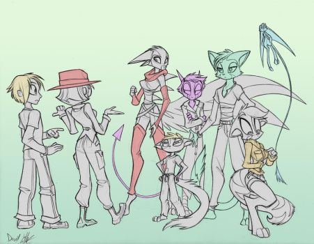 Patreon Sketch: Gender Swap by Dreamkeepers