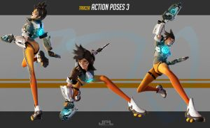 OVERWATCH Tracer Action Poses 3 by JPL-Animation
