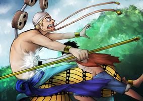 Luffy Vs Enel by Deer-Head
