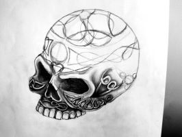Celtic Engraved Skull WIP by silversunned