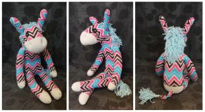 Sock Donkey....Zebra. Zebra Donkey. FOR SALE by Sovriin