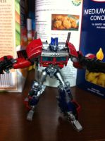 TF: Prime Cyberverse Optimus Prime - painted 1 by wulongti