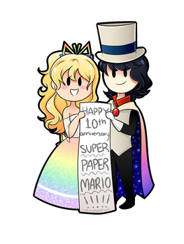 HAPPY 10TH ANNIVERSARY SUPER PAPER MARIO!!!!! by PixelatedFairy