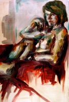 Pensive and Nude by bcartie